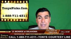 UL Monroe War Hawks vs. Oklahoma Sooners Pick Prediction College Footbal...