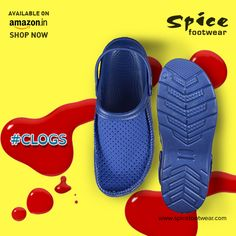 Buy from the exclusive range of #Clogs #footwear collections at Spice for all at unbelievable price. Contact us for more available colours at www.spicefootwear.com today!!
