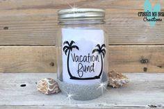 Vacation Fund Mason Jar Savings Bank with by CrossinMyHeart