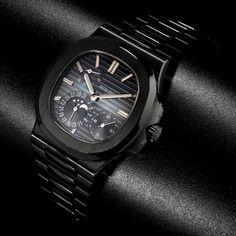 Black Patek Philippe Nautilus 5712/A Moon Phase Date