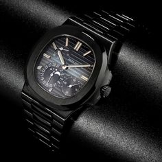 Black Patek Philippe Nautilus 5712/A Moon Phase Date