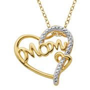 Diamond-Accent 18K Gold-Plated Mom Heart Pendant Necklace from JCPenney. #jcpenney #MarketStreetFlo