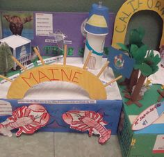 State Float Projects - Each student creates a float and have a parade around the school!