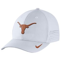 5f5593730 Texas Longhorns Nike Sideline Vapor Coaches Performance Flex Hat -  White Texas Orange