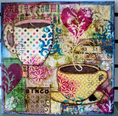 Coffee Mixed Media Canvas