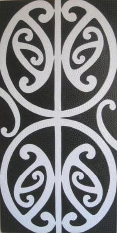 PAINTING Kowhaiwhai - White on Black Robianto Maori Art, Tattoo Maori, Stencil Decor, Stencils, Maori Designs, Tattoo Designs, Maori Patterns, Polynesian Art, New Zealand Art