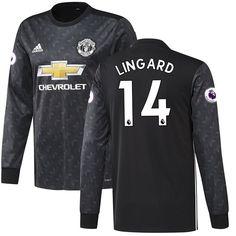 Jesse Lingard Manchester United adidas 2017/18 Away Replica Long Sleeve Jersey - Black