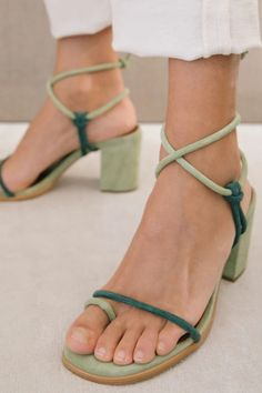 Women High Heels New Fashion Green Ankle Strap Sandals Sexy Lace Up Ladies Pumps Party Wedding Sandals Women Summer Shoes. #chunkyheels #sandalssummer #sandalsoutfit #sandalsheels #heels #heelsclassy #heelswithjeans #heelsprom #heelsclassy #heelswithjeans #heelsoutfits #heelsprom #heelswithsocks #heelsclassyelegant #heelsclassyelegant Look Fashion, Fashion Shoes, 2000s Fashion, Korean Fashion, Fashion News, Luxury Fashion, Green Sandals, Spring Sandals, Summer Shoes