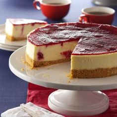 Cranberry Cheesecake Recipe from Taste of Home