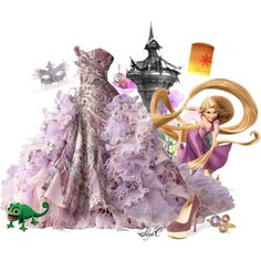"""Rapunzel - Masquerade - Disney's Tangled"" by rubytyra on Polyvore"