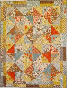 Perfect quick quilt using a layer cake. Nice tutorial with pictures, too.