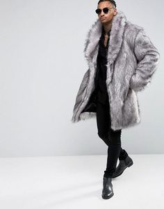 Buy ASOS Faux Fur Overcoat at ASOS. With free delivery and return options (Ts&Cs apply), online shopping has never been so easy. Get the latest trends with ASOS now. Black Men Fall Fashion, Autumn Fashion, Mens Fashion, 2017 Fall Fashion Trends, Fall Fashion Outfits, Fur Coat Outfit, Empire, Classy Wear, Mens Fur