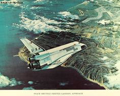 This concept art from the Shuttle Program's early days is gorgeous, deliciously retro All About Space, Nasa Space Program, New Background Images, Space Images, Nasa Space Pictures, Air And Space Museum, Air Space, New Backgrounds, Aviation Art