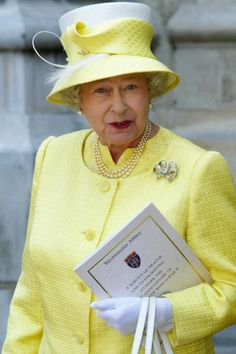 The Queen attending a service at Westminster Abbey on the anniversary marking the end of World War !! / Lively Picture