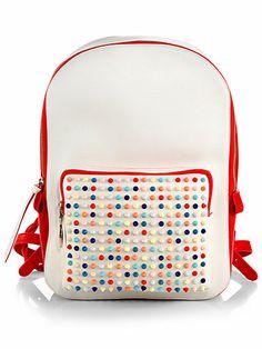 Christian Louboutin - Valou Spike-Studded Leather Backpack - Saks.com