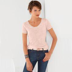 T-shirt em puro linho R Essentiel | La Redoute