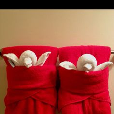 Cute way to fold towels