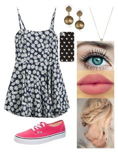 """""""Untitled #261"""" by rhay-q ❤ liked on Polyvore featuring Vans, Carolee, NYX and Michael Kors"""