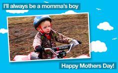Momma's boy!