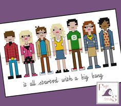 Big Bang Theory Inspired Cross Stitch  PDF Pattern  INSTANT