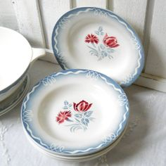 3 french vintage soup plates vintage french soup by minoucbrocante, €26.50