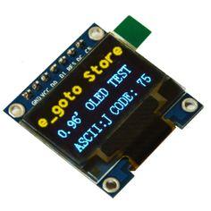 "0.96 pulgadas SPI IIC I2C Serial 128X64 Módulo de Pantalla OLED Azul Amarillo Bordo de La Pantalla LCD 0.96 ""SSD1306 para Arduino/stm32/51"
