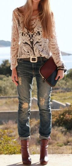 L.O.V.E. Lace  Denim ♥
