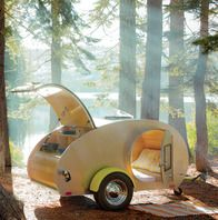 Accessories: Tea Drop Trailer/Camper Glamping how cute! I'd go camping if i had this Vw Camping, Best Camping Gear, Outdoor Camping, Camping Trailers, Camping Tools, Retro Camping, Camping Equipment, Travel Trailers, Glam Camping