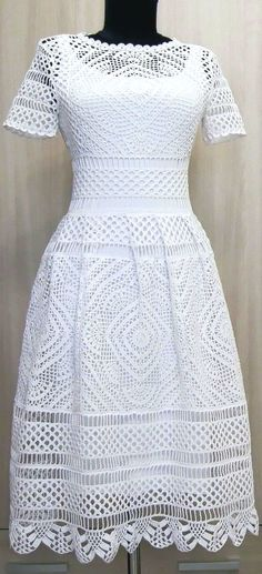 Fabulous Crochet a Little Black Crochet Dress Ideas. Georgeous Crochet a Little Black Crochet Dress Ideas. Knit Dress, Dress Skirt, Lace Dress, Crochet Woman, Crochet Lace, Crochet Summer, Filet Crochet, Crochet Wedding Dresses, Crochet Dresses