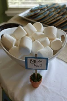 Bunny Tails for a Peter Rabbit party