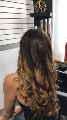 She said she wanted a balayage and the first visit I trim Balayage Hair Brunette Caramel, Carmel Balayage, Balayage Hair Honey, Hair Color Balayage, Brunette Hair, Balayage Hairstyle, Blonde Hair, Blonde Honey, Curl Styles