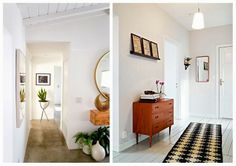 I am in love with these retro design hallways - simple and beautiful