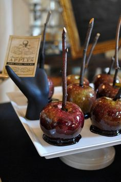 Poison candy apples. Great for a party!! :-) :-)
