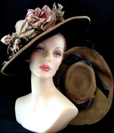 Vintage Antique Early 1900 s Edwardian Titanic Hats  07bf57713fd