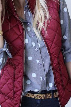 Stitch Fix Stylist: I love the vest, button up combo. I like the button up a lot.