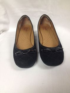 5bfdaf9a1 Womens Size 8 1 2 8.5M Black Clarks Indigo Dress Shoes with Bow Leather LkN