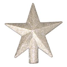 WONGS 20CM Petite Treasures Silver Glittered Mini Star Christmas Tree Topper  Unlit >>> Want additional info? Click on the image.