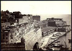 Unknown - La Valletta, Malta. Scenic view from Fort St. Barbara, 1860
