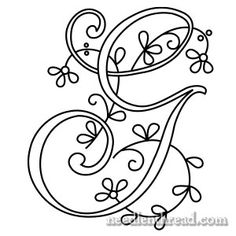 Monograms for Hand Embroidery: Delicate Spray G, H, I - NeedlenThread.com» Mary Corbet's Needle 'N Thread