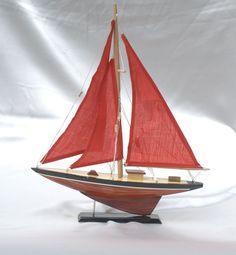 Wooden Sail Boat Model Toy Sailing Figurine Vietnamese Handicraft Vietguild | eBay $17.99 w/shipping
