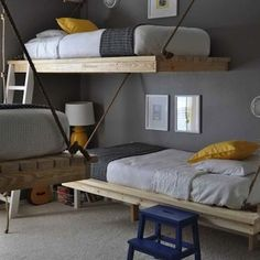 Wondering how to fit three or more kids into one bedroom? Between beds, toys, books, and clothes, finding room for everything can be a challenge. Take a look at these creative options for cramming lots of kids (and their stuff) into one room. You just might find the right solution to your own kid-space conundrum.