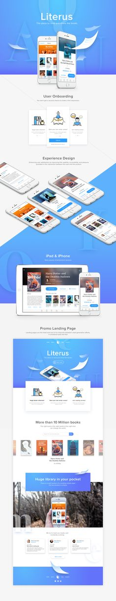 iPhone & iPad Application concept for Readers & Writers.