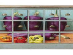 Fiókos komód paprikás fotóval   Endrédi Design Eggplant, Vegetables, Red Peppers, Eggplants, Vegetable Recipes, Veggies