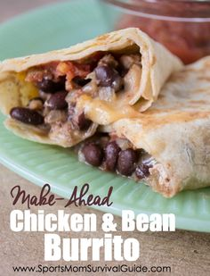 Ever need a quick meal? What if I told you there is a meal that you can make quickly for dinner one night and then use the leftovers to freeze for another meal later? Try this EASY and delicious chicken and bean burrito recipe!!