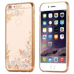 Luxury Rhinestone Soft TPU Case For iPhone 7 6 6s Plus 5 5s SE Samsung Galaxy S6 S7 Edge S8 S8 Plus