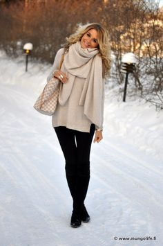 winter.  let's be warm AND stylish. Black and nude