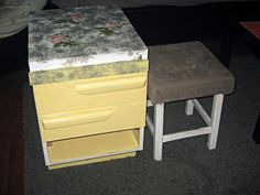Nightstand makeover - #decoupage Smells Like Mommy