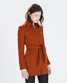 Image 1 of COAT WITH FRONT POCKETS from Zara