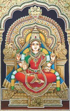 AMMAN. Mysore Painting, Kerala Mural Painting, Madhubani Painting, Shiva Art, Hindu Art, Krishna Drawing, Mother's Day, Lord Shiva Painting, Navratri Images