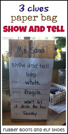 aa6c7d084ba INSTRUCTION - Show and Tell gives students the opportunity to strengthen  their oral language skills for